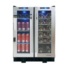 Mirrored 36 Bottle Single Zone Built-In Wine Refrigerator