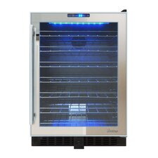 Mirrored 54 Bottle Dual Zone Built-In Wine Refrigerator