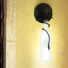 Vine and Wine Bottle Sconce