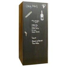 440 Chalkboard Oak Wine Cooler Cabinet in Dark Brown