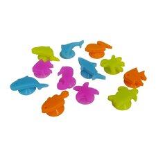 Epicureanist 12 Piece Sea Buddies Glass Charms Set