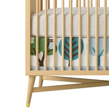 Owls Appliqué Canvas Crib Skirt