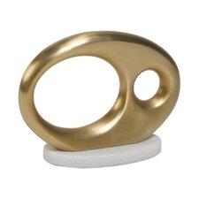 Oval Metal Objet