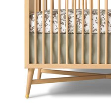 Woodland Tumble Solid Moss Canvas Crib Skirt