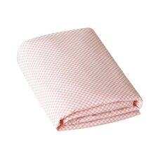 Rosette Check Blossom Fitted Crib Sheet