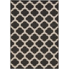 Modern Trellis Ink Outdoor Area Rug