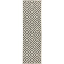Alfresco Hand Woven Grey / Ivory Outdoor Area Rug
