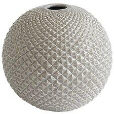 Diamond Cut Globe Vase