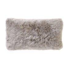 Smooth Sheepskin Throw Pillow