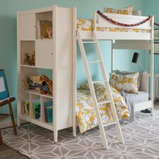 Mid-Century French White Library Bunk Bed
