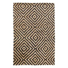 Pyramid Hand Knotted Jute Ink Area Rug