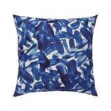 Brushstroke Indigo Throw Pillow Cover