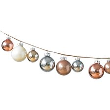 Hue Iced Metallic Ball Christmas Ornament (Set of 24)