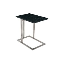 Dimas End Table in Black & Silver