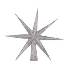 Etoile Tree Topper in Silver Glitter