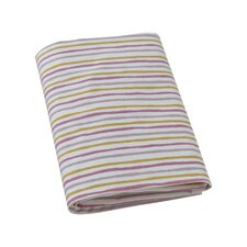 Painted Stripe Fitted Crib Sheet