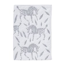 Zebra Quilted Play Blanket