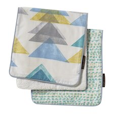 Triangles 2 Pack Burp Cloth Set (Set of 2)