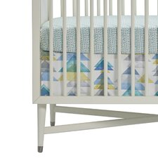 Triangles Percale Crib Skirt