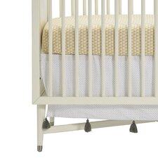 Polka Dot Tassel Crib Skirt