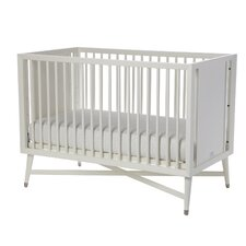 Mid-Century 3-in-1 Convertible Crib in White