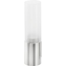 Faro Stainless Steel Frosted Glass Hurricane (Set of 3)