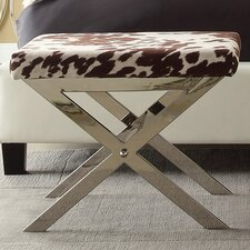 Candice Cow Hide Print Vanity Stool