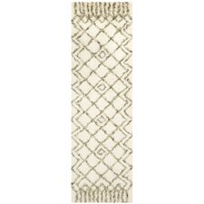 Rioja Shag Rug in Ivory & Green