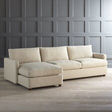 Asher Sofa and Chaise with Premium Fabric