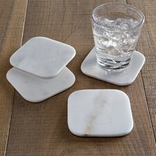 Elbert Marble Coaster (Set of 4)