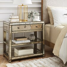 Greer Mirrored Side Table