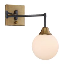 Kors 1 Light Swing Arm Wall Sconce