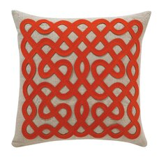 Labyrinth Persimmon Throw Pillow