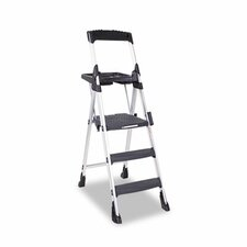World's Greatest 6 ft Aluminum Folding Step Ladder with 300 lb. Load Capacity