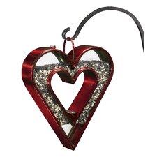 Heart Fly-Thru Decorative Bird Feeder