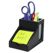 Midnight Pencil Cup with Note Holder