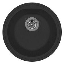 "Atlantic 17"" x 14"" Series Single Basin Round Drop Kitchen Sink"