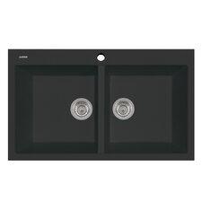 "Elegance 34"" x 20"" Series Double Basin Drop Kitchen Sink"