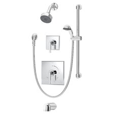 Duro Pressure Balance Tub and Shower System with Lever Handle