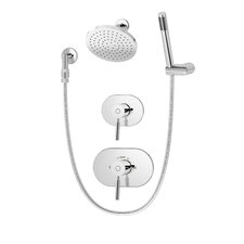 Sereno Pressure Balance Shower and Hand Shower System with Lever Handle
