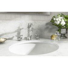 Carrington Double Handle Deck Mounted Widespread Bathroom Faucet