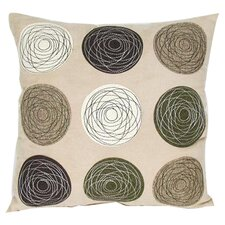 Embroidered Patchwork Linen Throw Pillow
