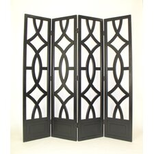 "72"" x 76"" Large Looped 4 Panel Room Divider"