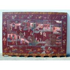 "96"" x 140"" Geisha Village Scene 8 Panel Room Divider"