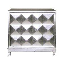 Modern Silver Reflective 3 Drawer Dresser