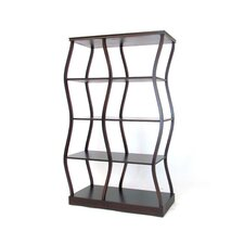 "Riaze a Double Display 62"" Accent Shelves Bookcase"