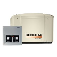 Guardian Automatic Home 7 Kw Air-Cooled 50 Amp Dual Fuel Standby Generator 8 Circuit Transfer Switch without Whip