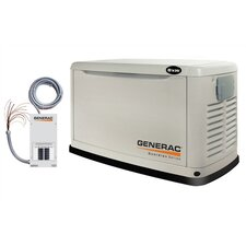 Guardian 8 Kw Air-Cooled 50 Amp Dual Fuel Standby Generator with Transfer Switch in Steel Enclosure