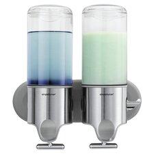 Wall Mount Pumps, Twin 15 fl. oz. Shampoo & Soap Dispenser, Stainless Steel