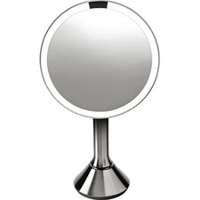 Sensor Activated Lighted Vanity Mirror, 5x Magnification, 8 in.